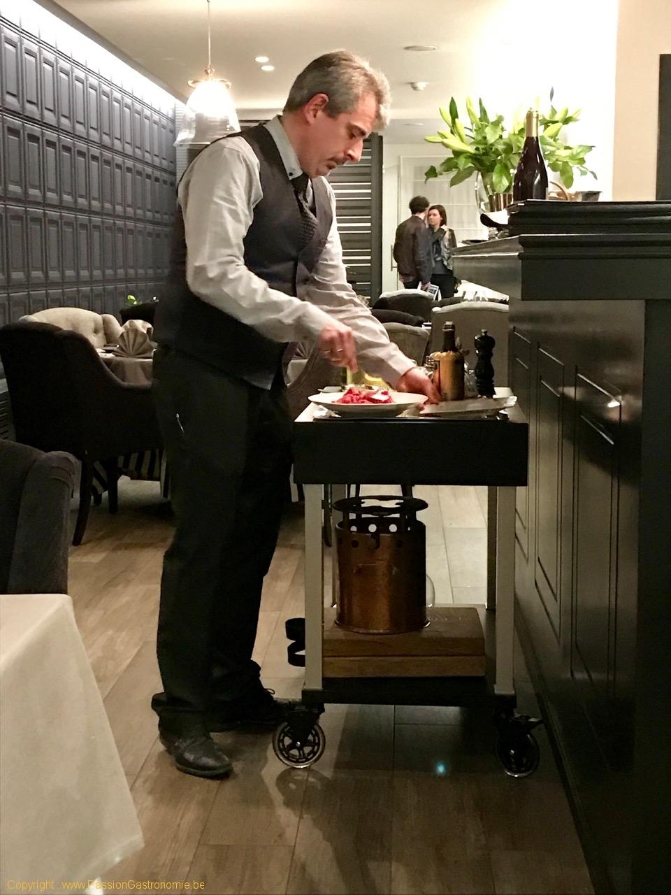 Restaurant Tribeca à Gerpinnes - Les préparations en salle