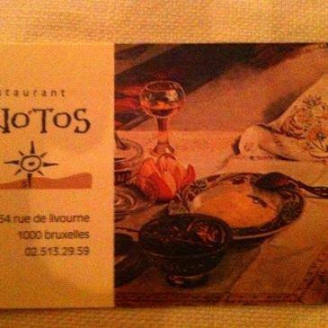 Notos, restaurant grec à Bruxelles
