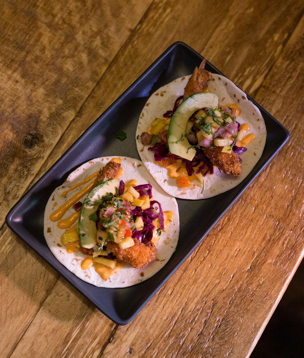 Mini-tacos aux crevettes firecrackerjpg