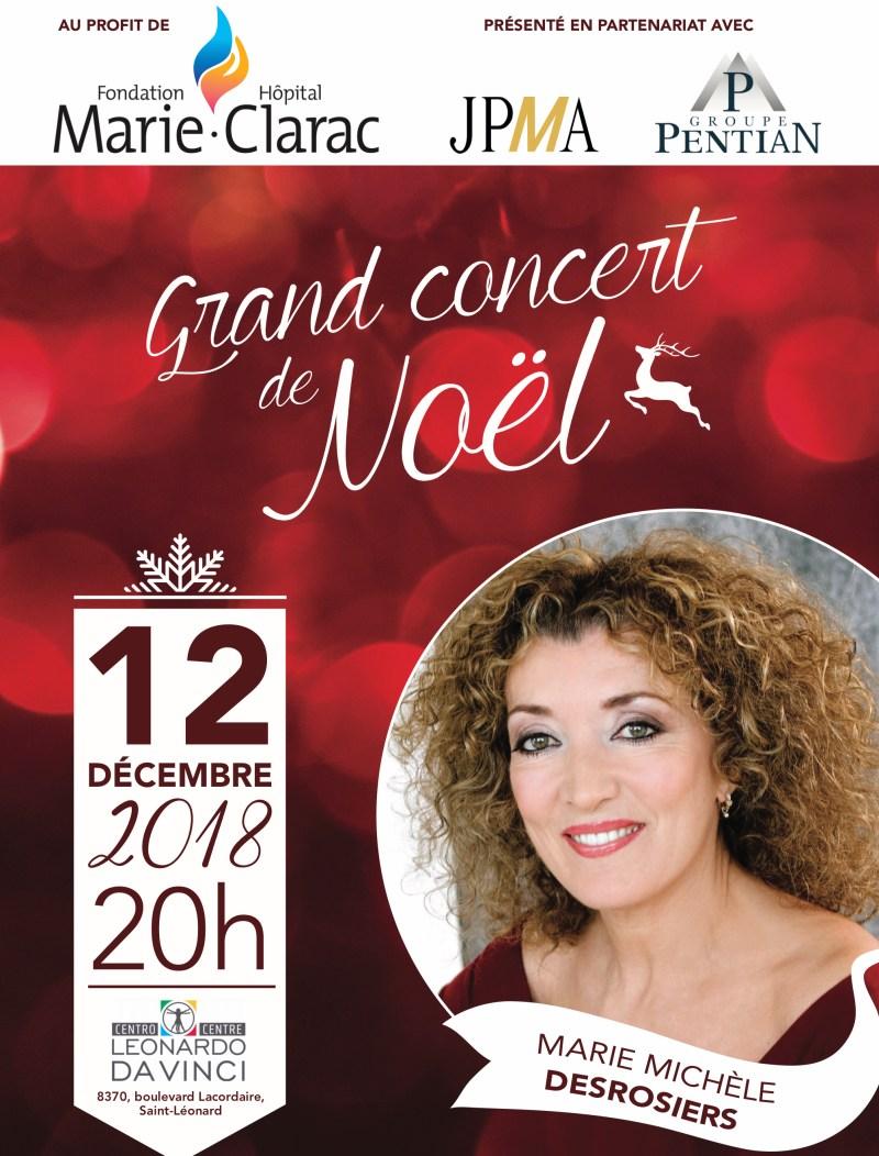 Concert de Noël de la Fondation de l'hôpital Marie-Clarac Affiche