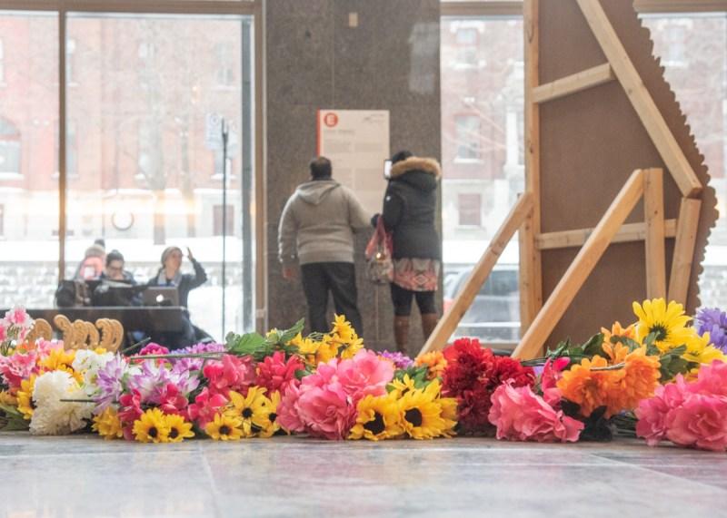 photo Pierre-Luc Daoust Montréal fleurs visiteurs