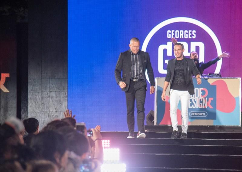 Vincent d'Amérique et Georges St-Pierre défilé Montréal