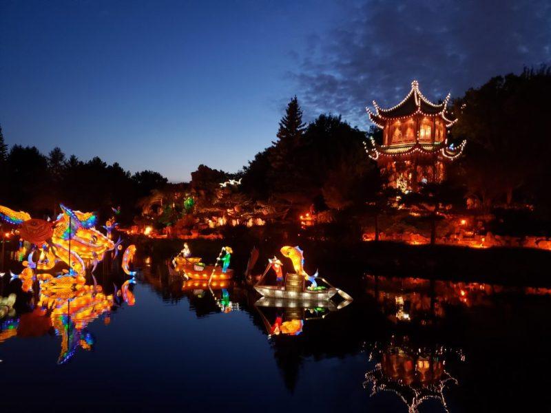 Jardin de Chine lumière