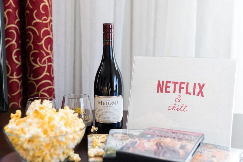 Photo MEIOMI, pinot noir et le Netflix and Chill