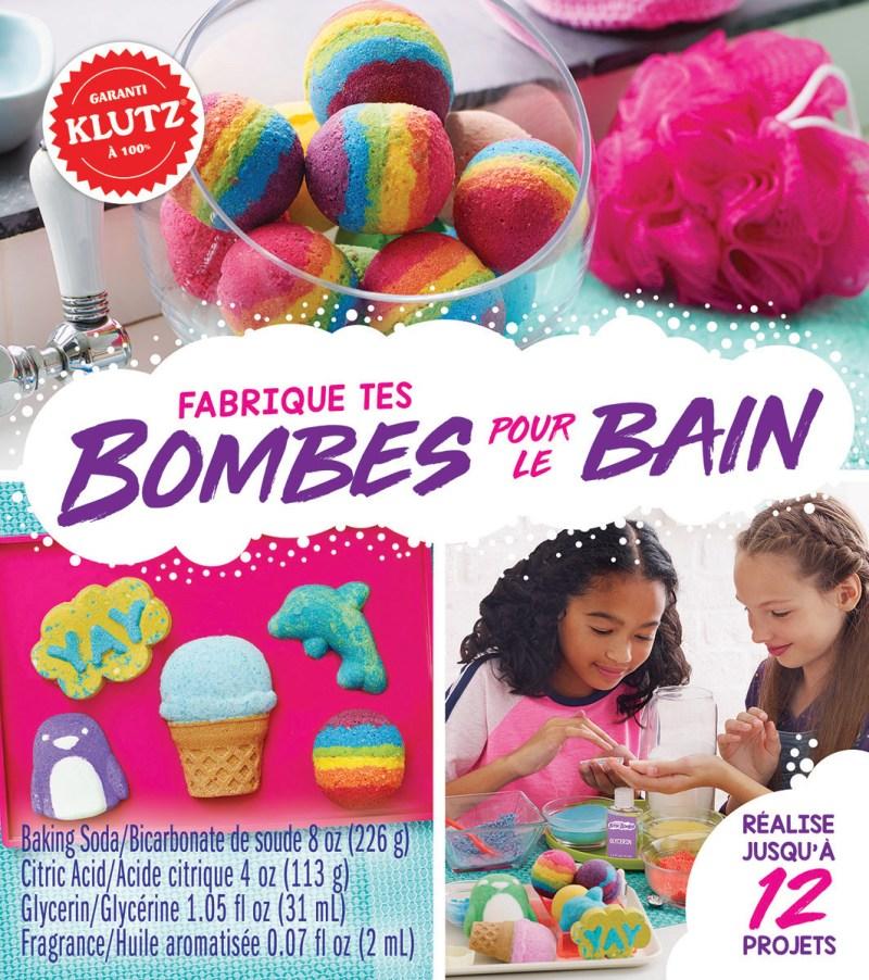 Fabrique tes bombes pour le bain Shopping de Noël livre