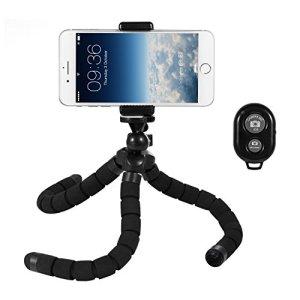Deyard Flexible Grand support pour trépied Octopus Montant réglable avec télécommande Bluetooth pour tout appareil photo numérique GoPro Caméra et appareil photo numérique