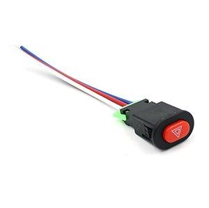 FengYun® Bouton de commutateur de clignotant d'urgence de lumière de voyant électrique de voiture de moto de double de vélo