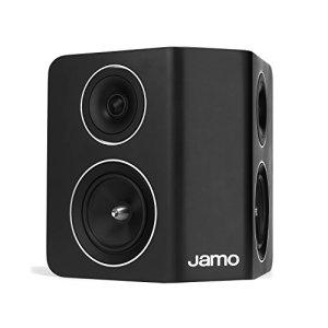 Jamo C 10 SUR 160W Noir haut-parleur – Hauts-parleurs (2-voies, 1.0 canaux, 160 W, 65 – 27000 Hz, 6 Ohm, Noir)