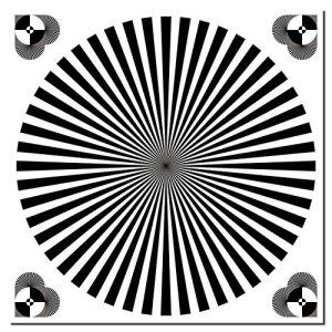 Lot de 1010cm Autocollants Siemens étoile Focus Test chart Balance des blancs Appareil photo Résolution
