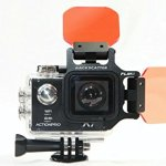 rétrodiffusion flip5Pro Package with Shallow, Dive & Deep Filters & + 15macromate Mini Lens for actionpro x7neo