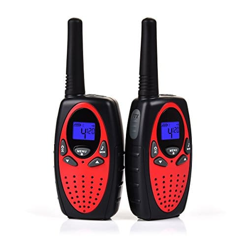 Upgrow Talkie Walkie, RT-628 1 paire Kids Talkie-Walkie Rechargeable longue portee 3 km Interphone cadeau de Noël Jouet pour garçon / fille de 4-12 ans (Rouge)