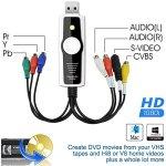 DIGITNOW! Vidéo Capture Convertisseur ,HD 1080i USB Enregistreur Hi8 DV VHS Cassettes Magnetoscope vers DVD Numérique for Mac e Windows 10