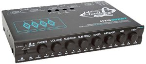 Lanzar HTG50EBT Heritage Series 4 bandes Égaliseur Paramétrique avec caisson de basses sans fil Bluetooth avec commande de Gain et Audio