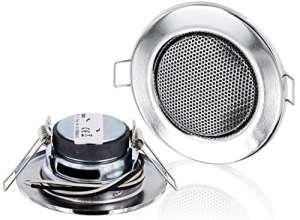 Encastrable Haut-parleur Métal plein 3W–Ø 60mm–montage de serrage–Halogène design–chromé