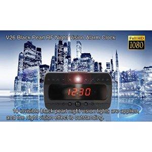 Réveil avec caméra espion montre 1920x 1080full hD night vision Motion Detector CW80acheter Web