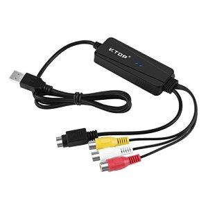 YQZH-EU-005 Fin de Série – Câble USB d'acquisition vidéo composite et S-Video avec audio. – Permet la capture des DVD ou des VHS sur votre PC