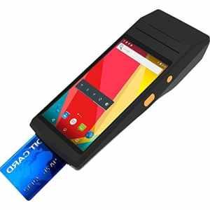 Etiqueteuse PDA-5501 Multi-Fonction 5.5 Pouces IPS Écran IP65 Protection Tout-en-Un Terminal Intelligent imprimante Thermique Intégrée et MIC et Haut-Parleur Support WiFi et Bluetooth et GPS Gris