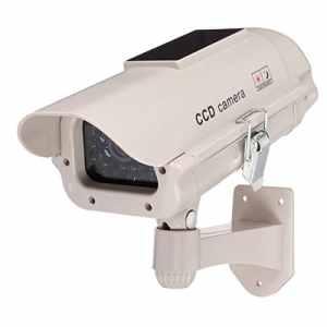 Doradus 2300 mannequin de pouvoir solaire attire la surveillance d'appareil photo de simulation de sécurité fausse dans un piège avec le clin d'oeil LED