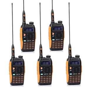 5 Pack Baofeng BF MARK II GT-3 Transceiver Talkie-Walkie Dual-Band DTMF RX CTCSS/DCS BCLO Two Way Radio * Version la plus Nouvelle en 2014 avec les Fonctions Renforcées et une Notice Conviviale + 1 Câble de Programmation