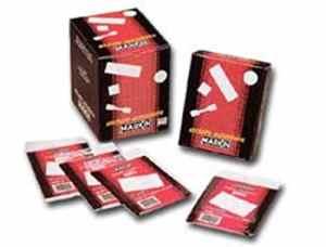 Étiquettes Markin adhésives 27x 15mm blanche (10feuilles x35étiquettes/feuille) 5[10019]