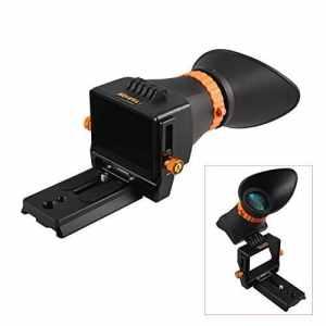 TARION QV-1 Viseur rapide optique LCD 2,5x/ loupe pare-soleil led + plateau rapide + œilleton amovible en caoutchouc+ facile à faire la mise au point etc. pour DSLR Le max écran LCD 3,2″