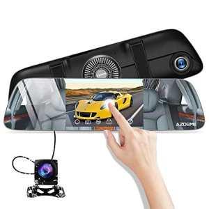 Dashcam AZDOME 1080P Caméra de Voiture Mirror Double Objectif à 5.5″ Ecran Tactile 170°Angle Caméra Embarquée Voiture Anti-eblouissement Etanche Enregistrement en Boucle Moniteur de Stationnement