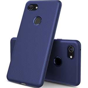 GeeMai Coque Google Pixel 3 XL, Ultra Mince Silicone Cas Transparent Transparent Cas Souple TPU Cas Mobile Téléphone Case pour Google Pixel 3 XL Smartphone(Bleu)