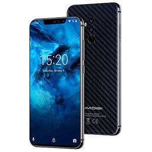 UMIDIGI Z2 Pro, Téléphone Débloqué (Ecran: 6.2 pouces- 6Go -128Go -Double Nano-SIM – Android 8.1) Smartphone Portable 4G, Double Caméra 16MP+8MP, Android 8.1, NFC, Reconnaissance Faciale -Carbon Fiber