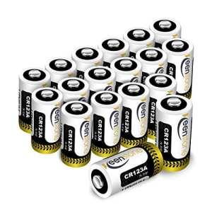 Keenstone Lot de 18 Piles Lithium CR123A, 3V 1600mAh Batterie Lithium Jetable pour Lampe Torche Microphones Caméscope Jouets etc – Pas Compatible avec Certains Arlo