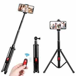 Perche Selfie, Joylink Bluetooth Selfie Stick Trépied avec Télécommande Monopode Extensible Selfie pour Smartphone, Gopro et Caméras d'action