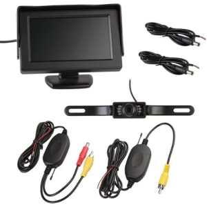 TOOGOO(R) 7 LED Camera de Recul + Transmetteur Recepteur sans fil + 4,3″ Moniteur LCD
