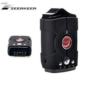 Zeerkeer GPS/Radar/Laser/Speed Piège à Détecteur de Voix, Alerte et de Vitesse de Voiture Système d'alarme à 360° avec Détection, City/Highway Mode Détecteurs de Radar pour Voitures
