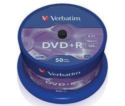 50x Verbatim DVD + R 4,7Go (16x) [électronique]