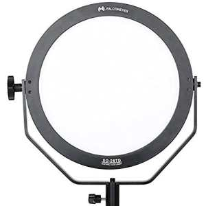 Falcon Eyes 28TD Bi-Color Éclairage vidéo LED 28 W 3000-5600 K avec Panneau Souple Rond pour éclairage Photographique