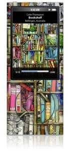 GelaSkins Skin pour iPod Nano 5G Motif bibliothèque