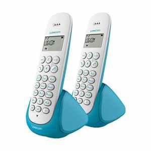Logicom Aura 250 Téléphone Fixe sans fil duo Turquoise