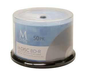 M-DISC Blu-ray de 25Go d'archivage de données permanente/sauvegarde vierges BD-R Media 50 Disc