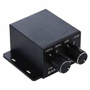 Nobsound Auto Car Amplifier audio Subwoofer Bass Control Knob Sub gain Equalizer Regulator Freq uency Controller RCA Line Level Adjust
