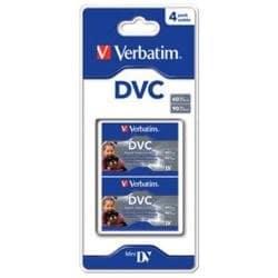 Verbatim 47654 Mini DV Pack de 4 (Blister) 60 mn
