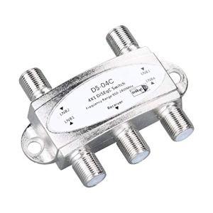 4 1 4 x 1 DiSEqc 4 Voies Commutateur DS-WideBand 04C Haute Isolation Connect 4 antennes paraboliques 4 LNB pour récepteur Satellite