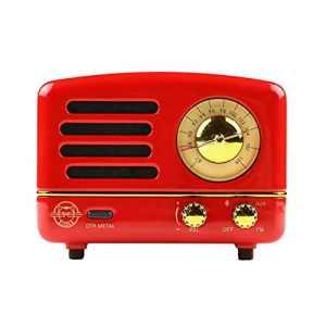 Haut-Parleur Bluetooth Muses Retro Radio Crimson Red Metal