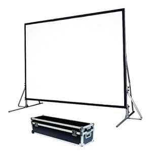 Schermo proiezione Quick-Folder ultraleggero con cornice rinforzata ripiegabile, tela soft-white + tela retro 538x336cm 250 16:10
