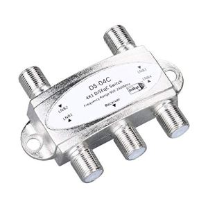 tyughjytu 4 x 1 DiSEqc Commutateur Connect 4 WideBand Plats 4 LNB pour Le récepteur Satellite