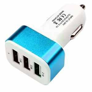 YOGINGO 3 Ports USB Chargeur De Voiture Portable Rapide Externe Prise De Charge Adaptateur Cigarette Chargeur Multi Protection Technologie – Bleu