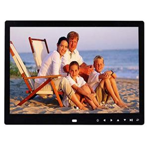 13 Pouces IPS Multi-Fonction HD avec Bouton Tactile Numérique Photo Cadre Électronique Album Publicité Machine Cadeaux d'affaires,Black