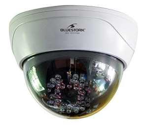 Bluestork BS-DUMYCAM/D Caméra de surveillance d'intérieure factice avec LED rouge – Blanc