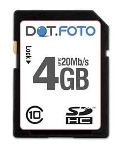Dot.Foto – 4 Go Carte mémoire SDHC Classe 10 – 20Mo/sec pour Panasonic Lumix DMC-FX07   DMC-FX3   DMC-FX10   DMC-FX12   DMC-FX30   DMC-FX33   DMC-FX35   DMC-FX36   DMC-FX37   DMC-FX38   DMC-FX40   DMC-FX48   DMC-FX50   DMC-FX55   DMC-FX60