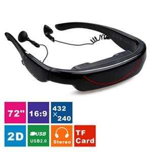 Excelvan Hot 72 2D «Glasses Écran Virtuel Lunettes Vidéo Portable Stéréo 2D Theater Personal Glasses TV for XBOX/PSP