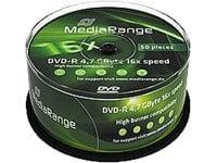 MediaRange BD-R DVD-R 4,7Go 16compartiment, Lot de 50