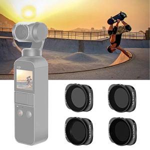 Neewer Filtre Magnétique ND/PL pour DJI Osmo Pocket Caméra Portable – ND8/PL,ND16/PL,ND32/PL,ND64/PL, Fabriqué de Verre Optique et Cadre en Aluminium Aviation (Noir)